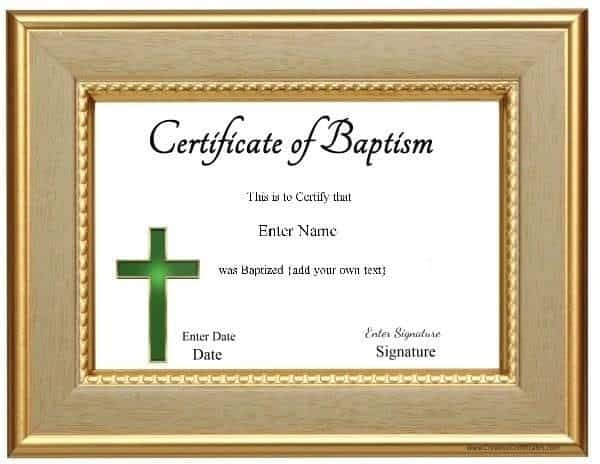 Church Certificate