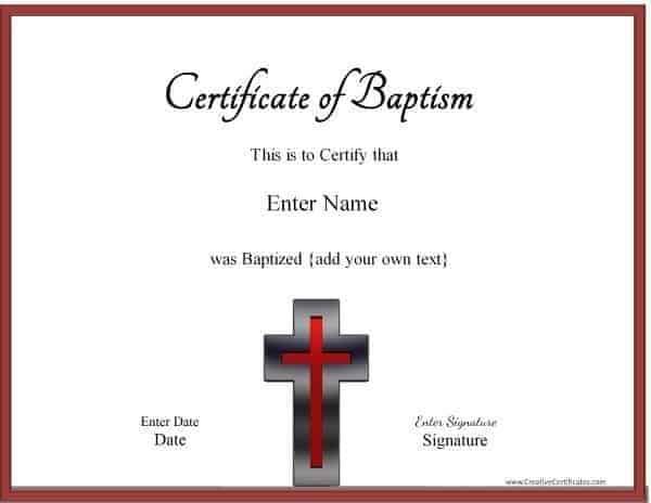 Baptism Certificates
