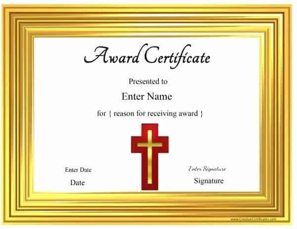 Christian certificate template customizable bible school yadclub Gallery