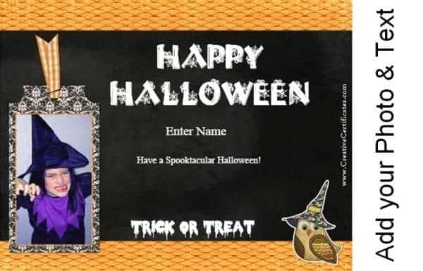 Printable card for Halloween