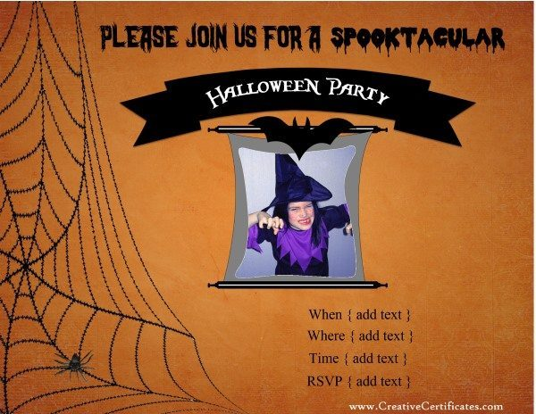 Free printable halloween invitations halloween birthday party invite yadclub Image collections