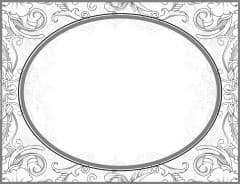Oval shape with a Victorian design