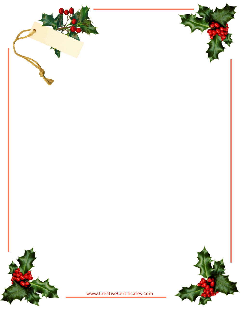 Free Christmas Border Templates - Customize Online then ...