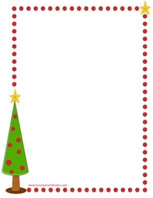 Xmas tree border