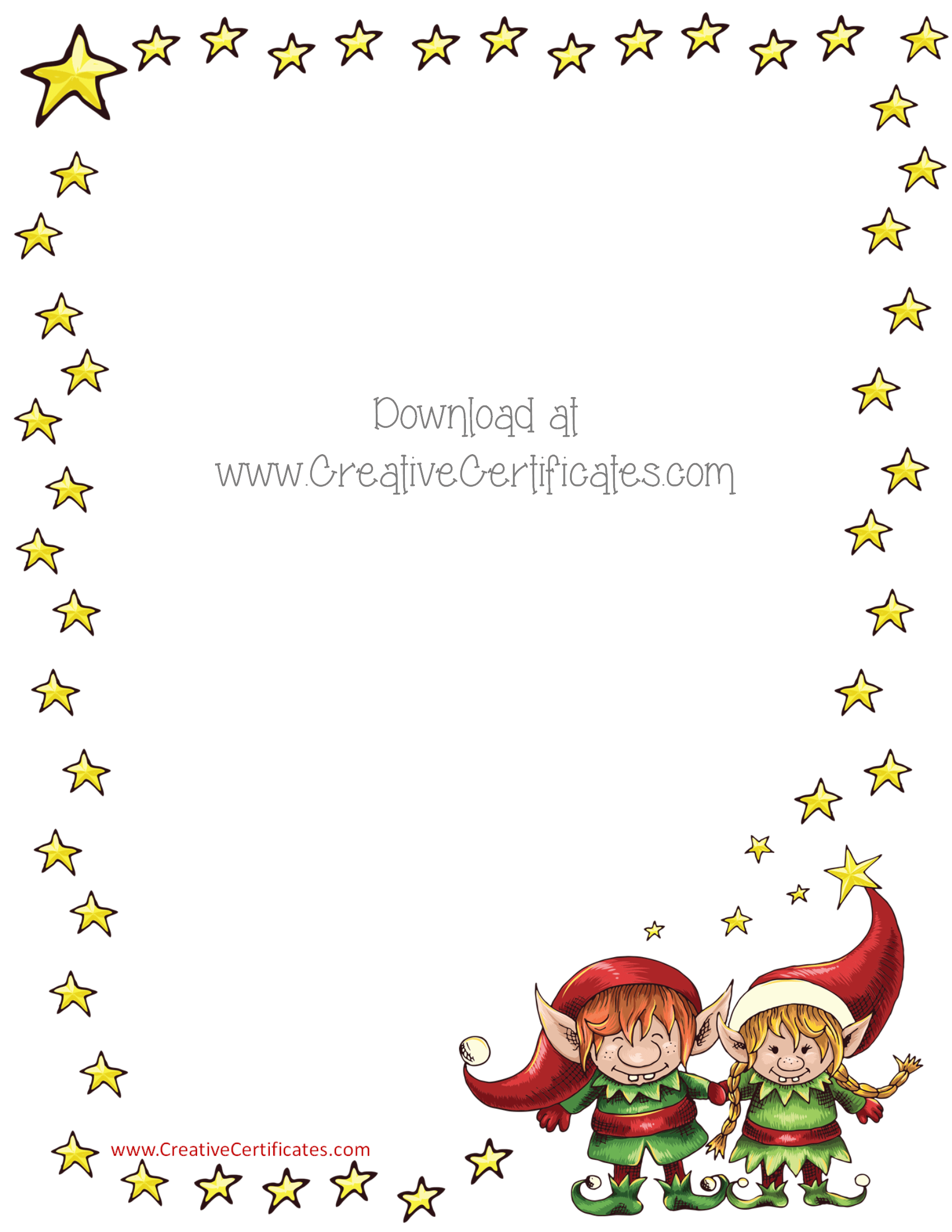 Free Christmas Border Templates - Customize Online or Print as is