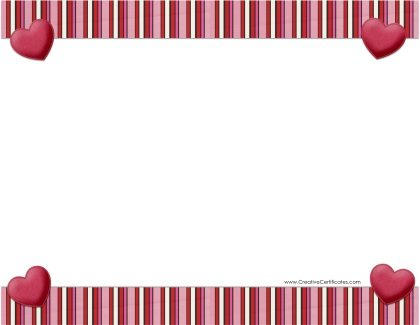 Free Heart Border Templates Add Text And Or Images Or
