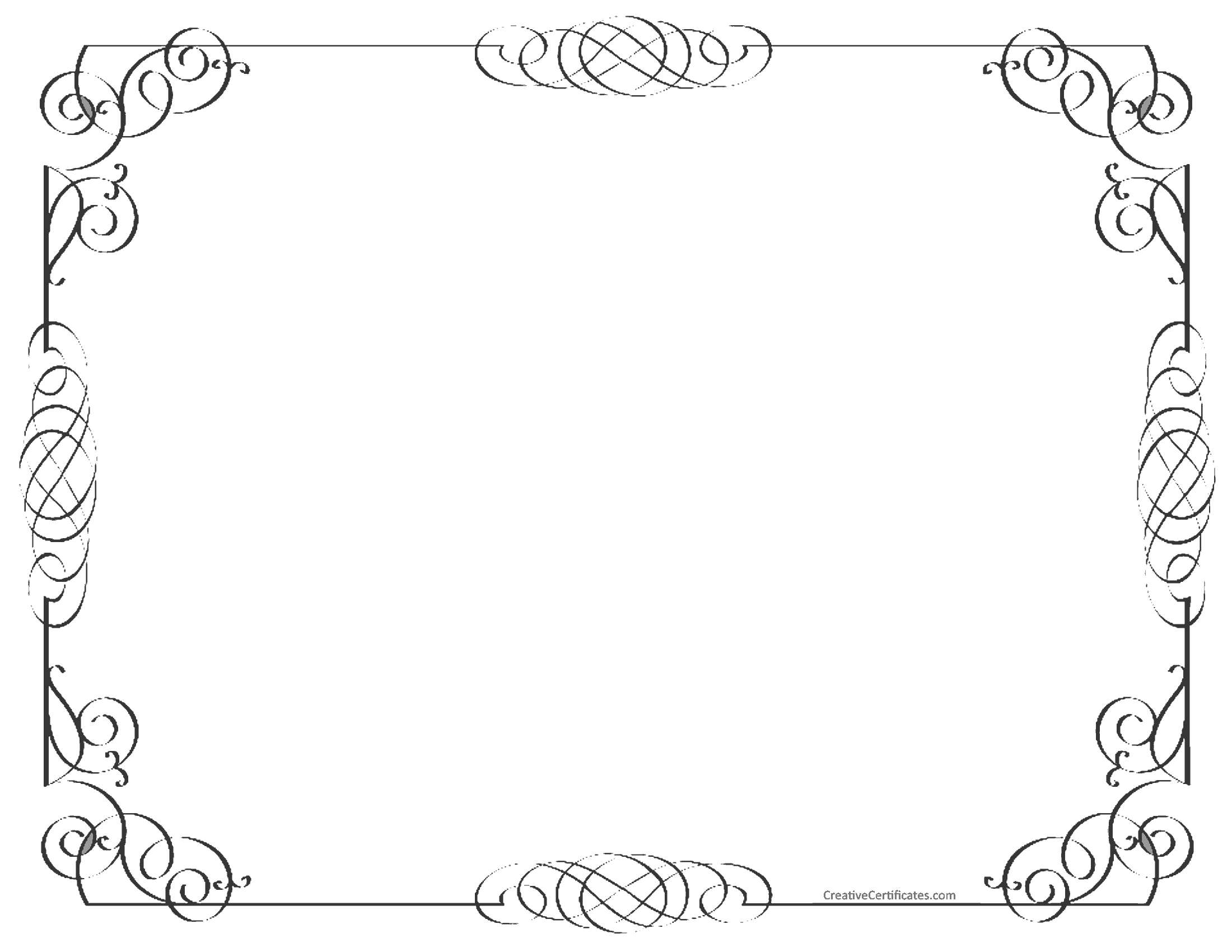 Black And White Border Free Customizable Instant Download
