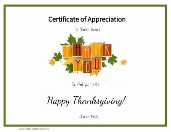 Thank you printable