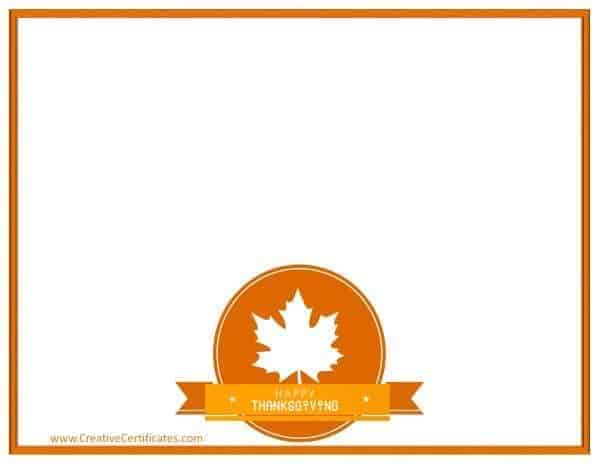 Happy Thanksgiving clip art on page border