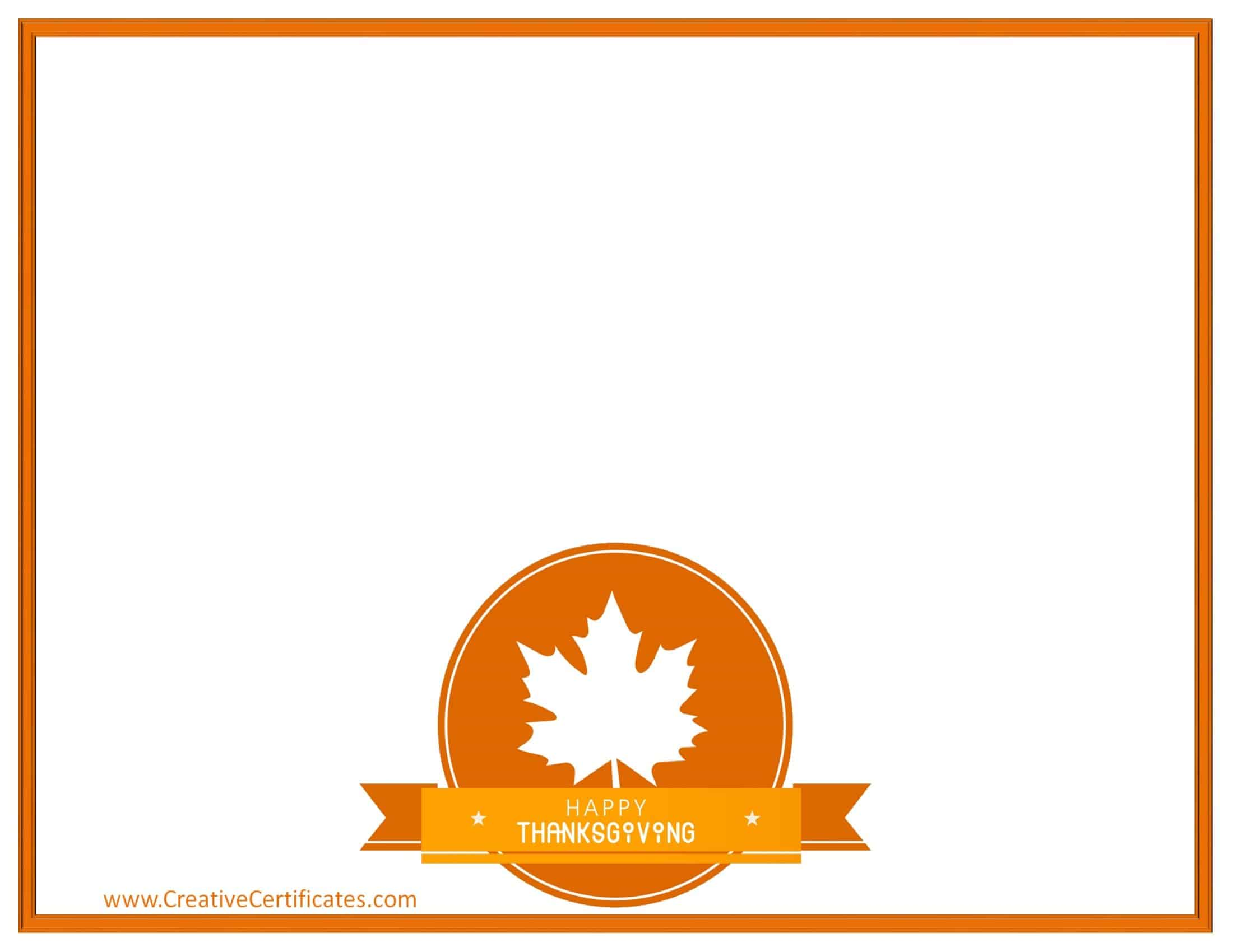 free thanksgiving border templates customizable printable rh creativecertificates com  clipart of thanksgiving borders