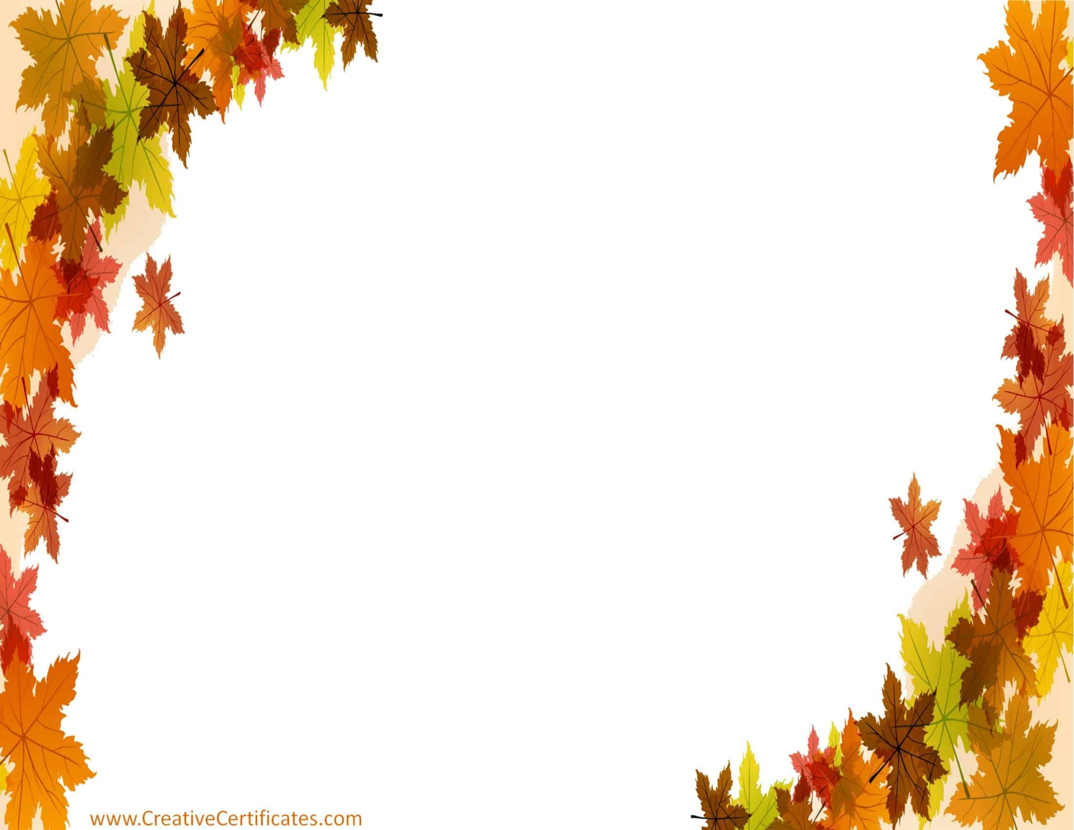 Free Thanksgiving Border Templates