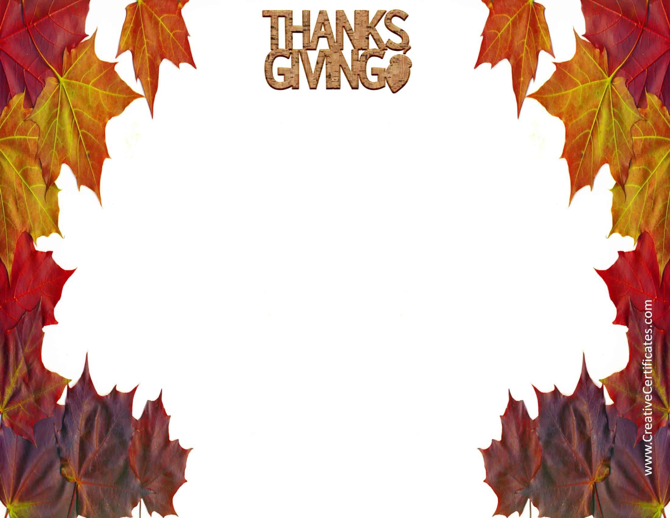Thanksgiving borders