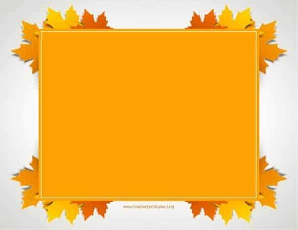 Thanksgiving borders clip art free