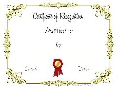 gold border wtih red ribbon