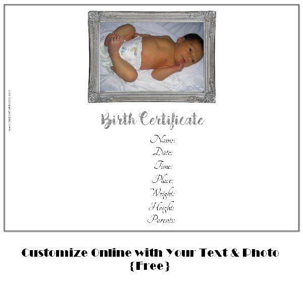 Birth Certificate Template  Printable Birth Certificate Template