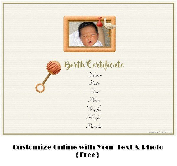 custom free birth announcement with photo