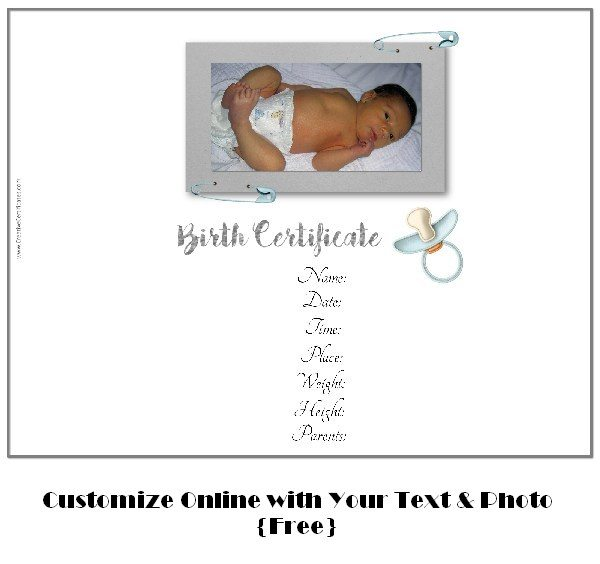 Free Birth Certificate Template  Online Birth Certificate Maker