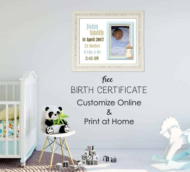 certificate of birth template