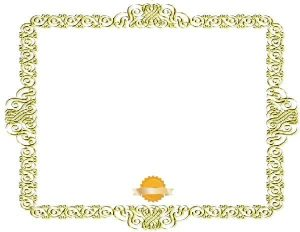 gold certificate border