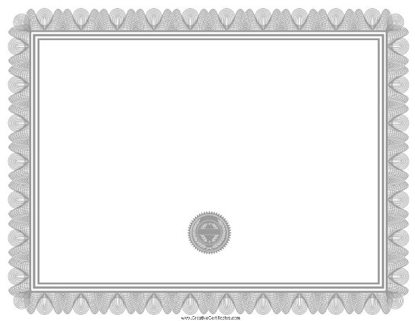 Free Blank Certificate Print Blank Or Customize Online Free