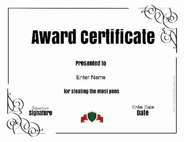 Funny Awards – Funny Certificates Template