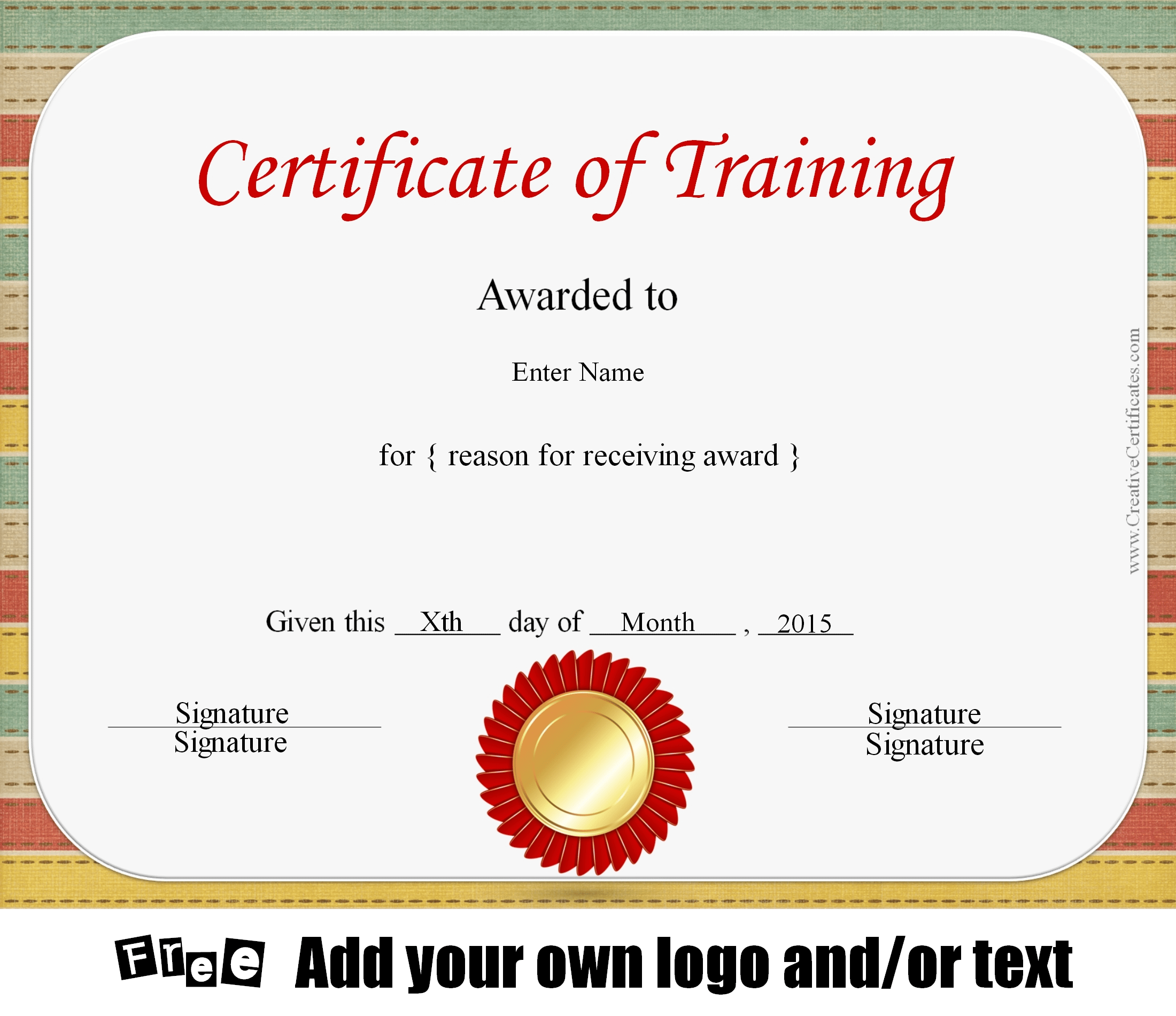 customizable certificate template - free certificate of training template customizable