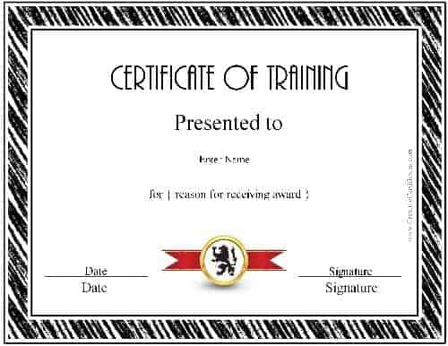 Participation in a training course