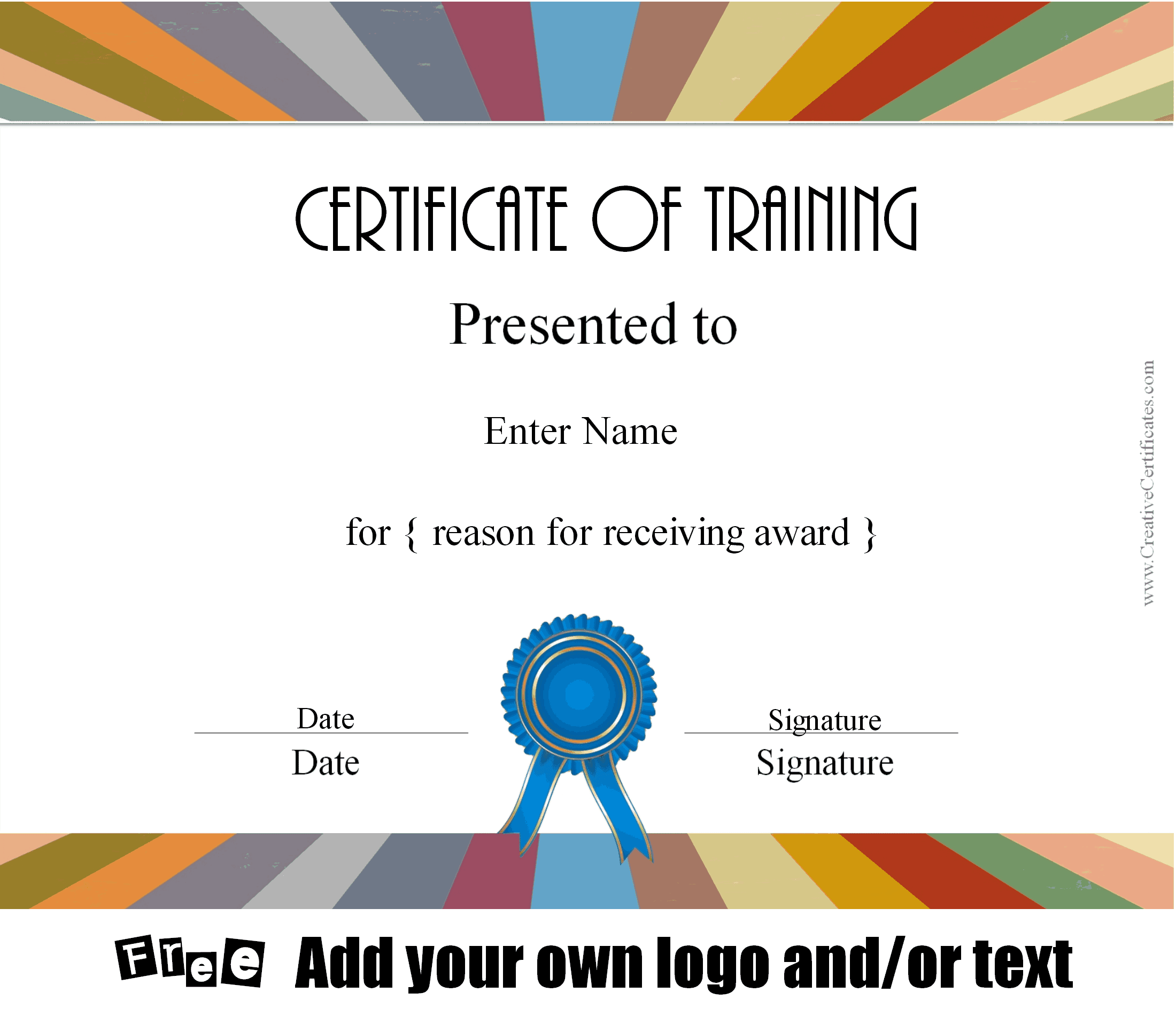 Diploma For Training Course  Free Training Certificate Template