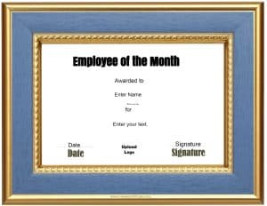 Employee of the month certificate