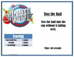 Toss the ball party game