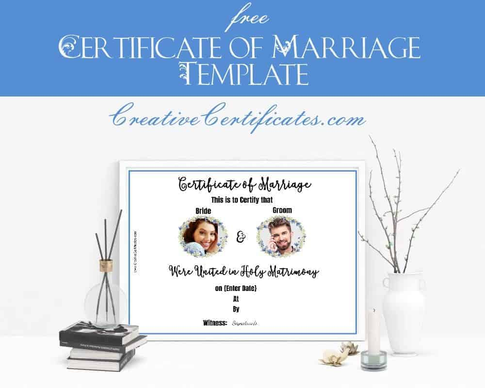 Free marriage certificate template customize online then print certificate of marriage yadclub Images