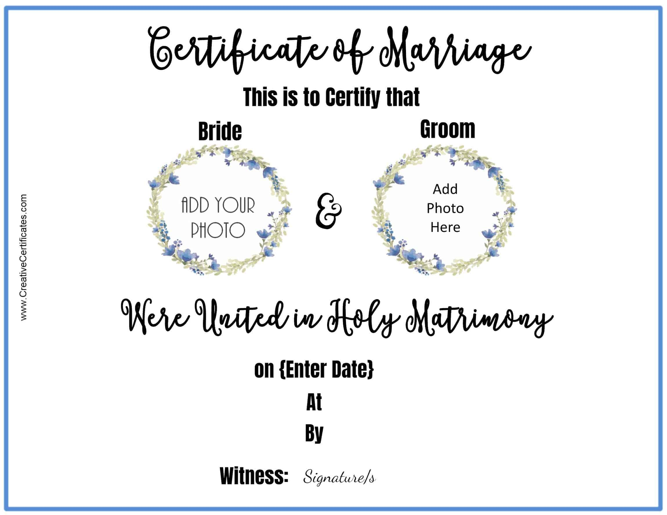 Free marriage certificate template customize online then print wedding certificate template yadclub