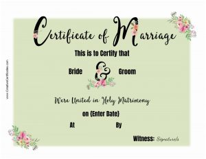 wedding certificates
