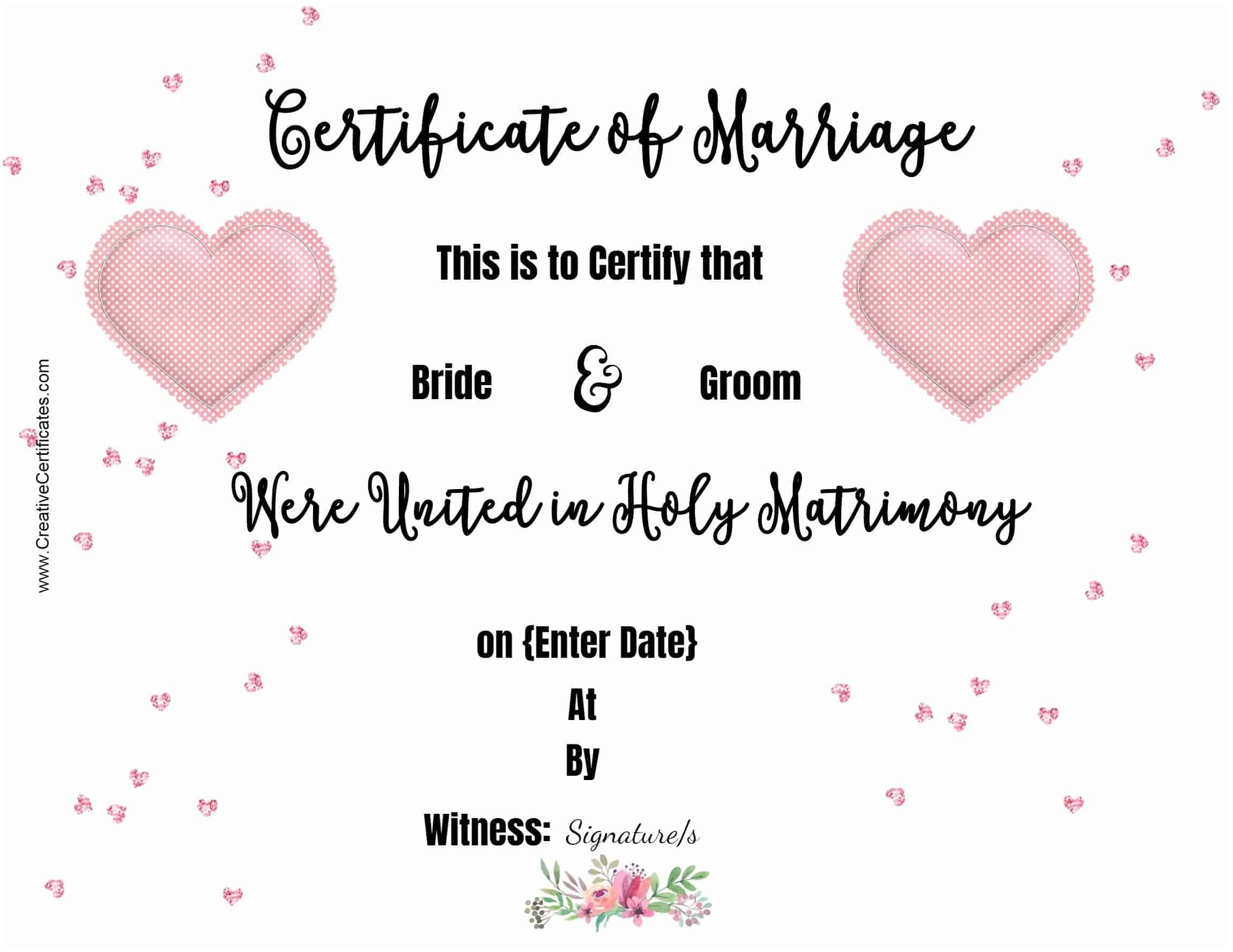 Free marriage certificate template customize online then print marriage printable yadclub Images