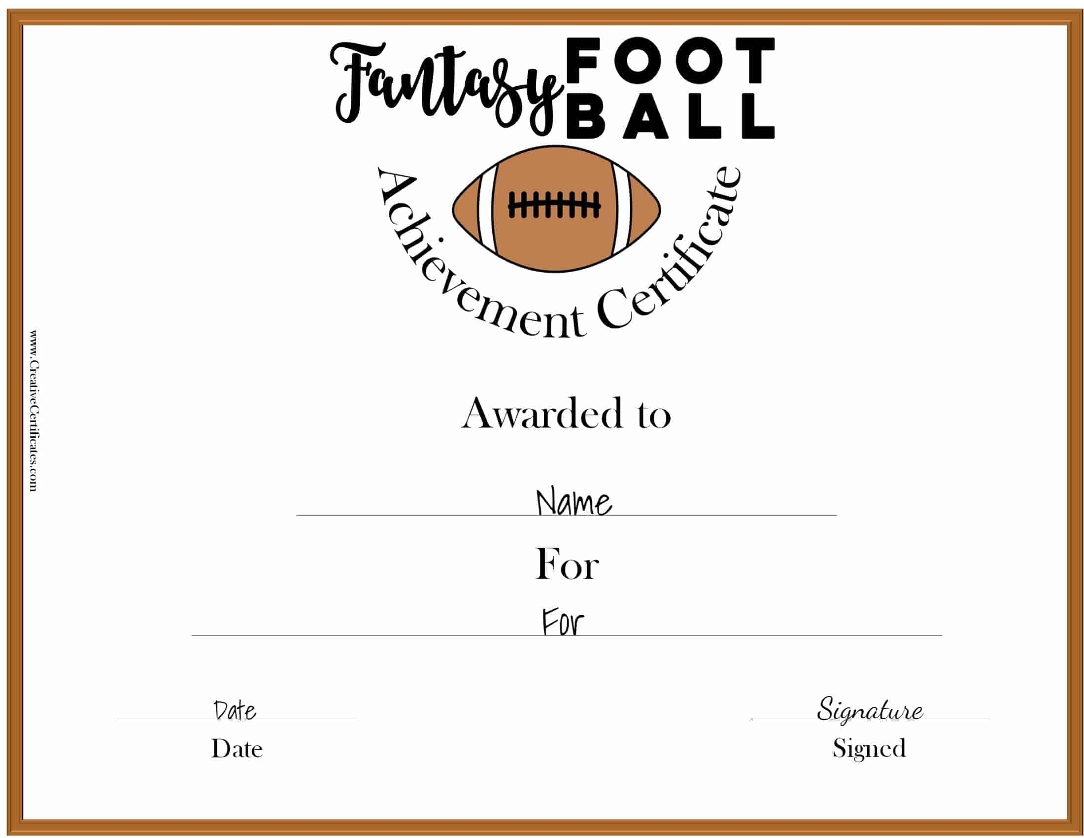 free fantasy football awards
