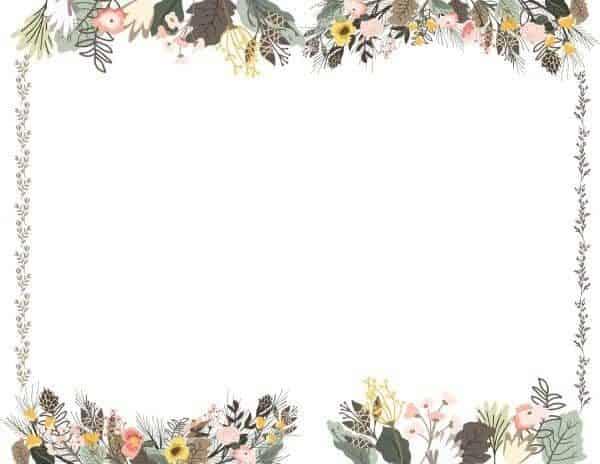 Free Printable Flower Border