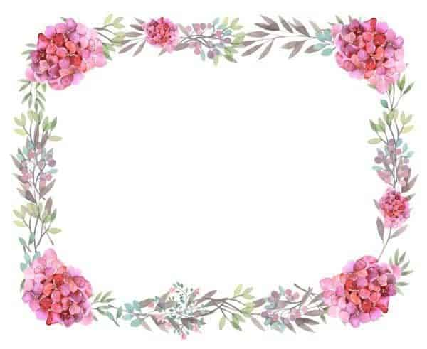 Free printable flower border flower borders mightylinksfo Choice Image