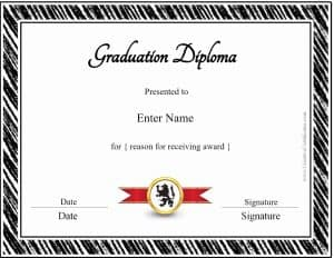 Homeschool diploma template