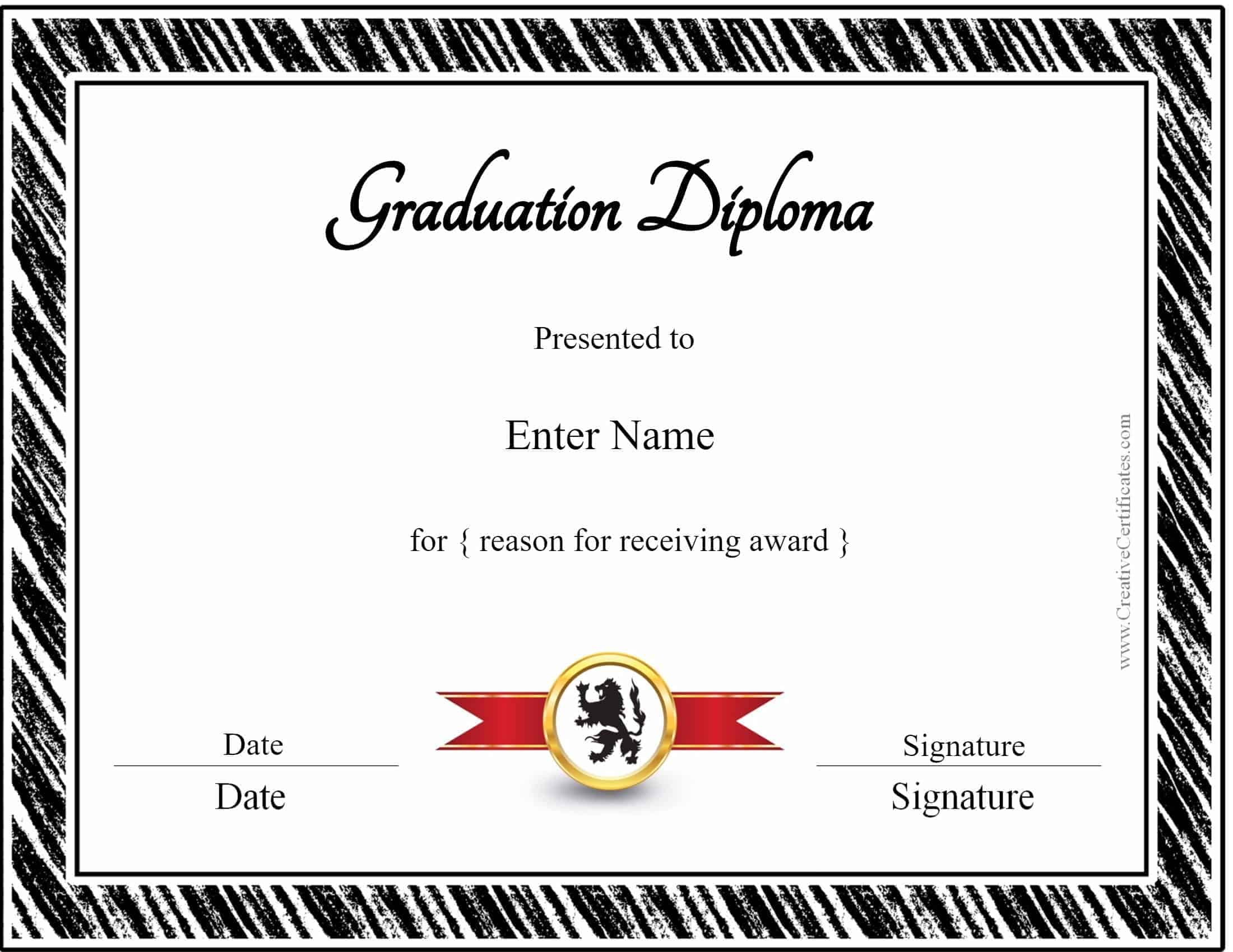 Diploma template homeschool diploma template alramifo Images