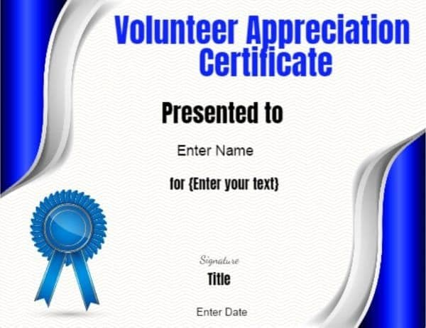 Volunteer Template