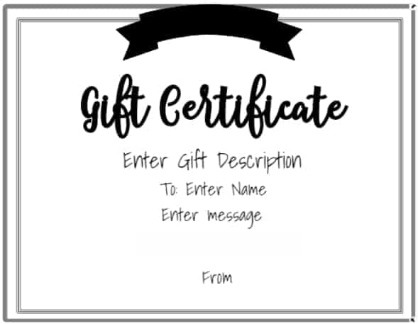 Wedding Gift Certificate Ideas: Free Gift Certificate Template