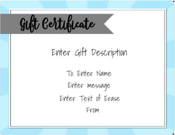 Free Online Gift Certificate Maker No Registration Required - Gift certificate template with logo