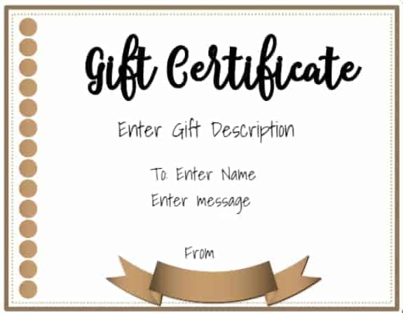 Free Online Gift Certificate Maker No Registration Required - Gift certificate template add logo