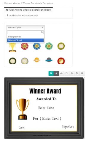 Certificate clipart
