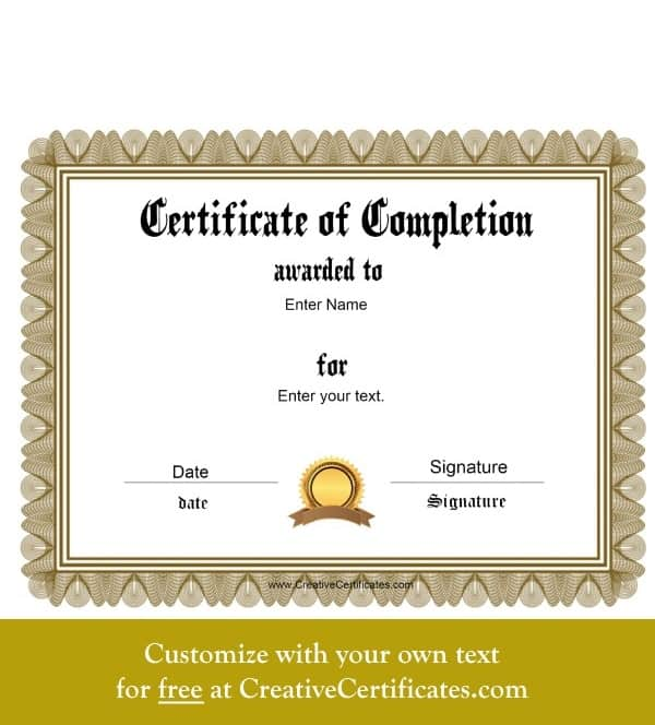 Certificates Of Attendance Templates Free