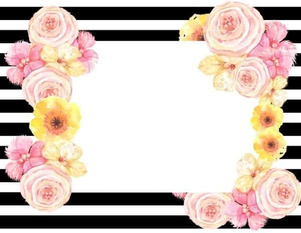 pretty flower frame for invitations, cards or other things