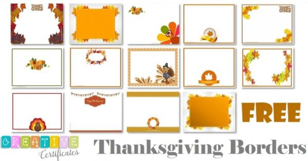 Thanksgiving borders clipart