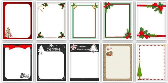 Christmas border clipart